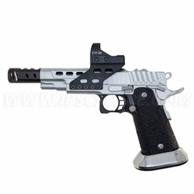 Pistola STI DVC O, 9mm, Hard Chrome with Black DLC Barrel